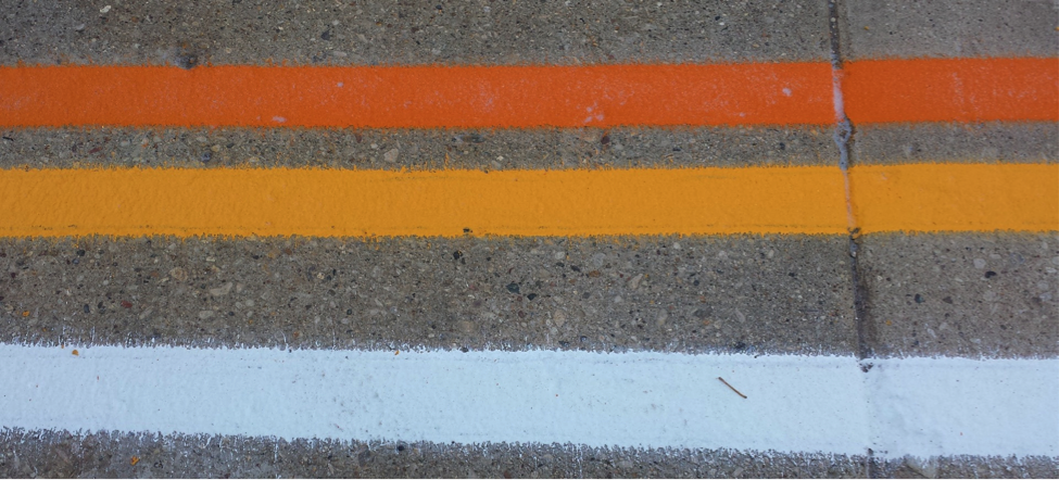 picture of work zone markings